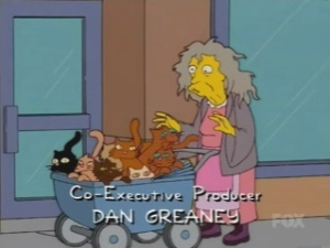 Crazy Cat Lady from the Simpsons